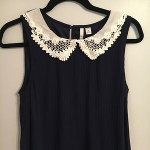 Babydoll Style Tank Top with Lace